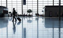Einda van de Internationale Luchthaven van Shanghai Pudong Stock Fotografie
