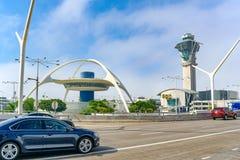 Einddiemening van de Luchthaven van Los Angeles door Tom Bradley wordt genoemd stock afbeeldingen