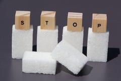 Einde aan suiker Royalty-vrije Stock Afbeeldingen