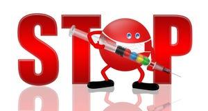 EINDE! H1 N1 stock illustratie