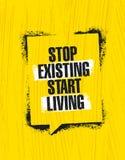 Einde het Bestaande Begin Leven Het inspireren Creatief de Affichemalplaatje van het Motivatiecitaat Vector het Ontwerpconcept va Royalty-vrije Stock Afbeeldingen