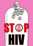 Einde menselijk immunodeficiency virus Stock Afbeelding