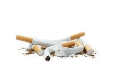 Einde roken, geïsoleerd op wit royalty-vrije stock afbeeldingen