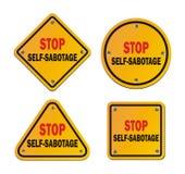 Einde zelf-sabotage - roadsigns royalty-vrije illustratie