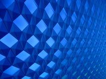 Eindeloos blauw patroon in perspectief Royalty-vrije Stock Fotografie