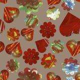 Eindeloos bloemenpatroon Bloemen vectorillustratie met harten stock illustratie