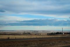 Eindeloos en landelijk prairielandschap stock afbeeldingen