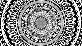 Eindeloos gezoem in een hand getrokken mandala stock illustratie