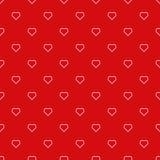 Eindeloos hartpatroon Stock Afbeeldingen