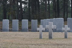 Eindeloos kerkhof in Polen royalty-vrije stock afbeeldingen
