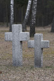 Eindeloos kerkhof in Polen stock foto