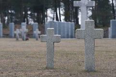 Eindeloos kerkhof in Polen stock afbeelding