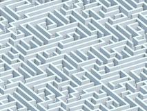 Eindeloos Labyrint Stock Foto's