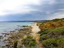 Eindeloos strand Stock Afbeelding