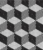Eindeloos zwart-wit symmetrisch patroon, grafisch ontwerp geometrisch stock illustratie