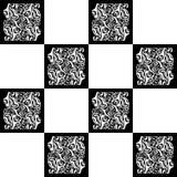 Eindeloze abstracte achtergrond met willekeurige groottevormen Vector naadloos uitstekend mozaïekpatroon Royalty-vrije Stock Foto's