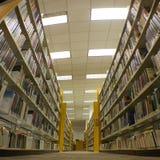 Eindeloze Bibliotheekstapels Royalty-vrije Stock Fotografie