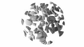 Eindeloze omwentelingslijn van een abstracte explosie stock videobeelden