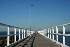 Eindeloze Pier Stock Foto's
