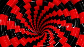 Eindeloze roterende hypnotic spiraalvormige loopable animatie stock footage