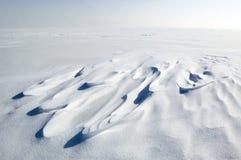 Eindeloze snowfield Stock Foto's