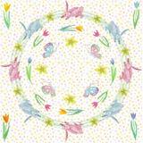 Eindeloze textuur voor de lenteontwerp, decoratie, groetkaarten stock illustratie