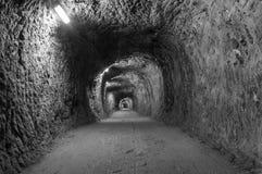 Eindeloze tunnel Royalty-vrije Stock Afbeeldingen