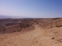 Eindeloze uitgestrektheden van woestijn Stock Fotografie