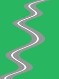 Eindeloze weg vector illustratie