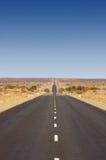 Eindeloze Weg (B1 in Namibië) Stock Foto's