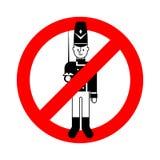 Eindestuk speelgoed militair Het verboden rode verkeerstekengardesoldaat plaything stock illustratie