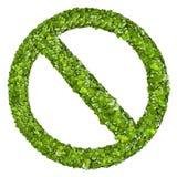 Eindeteken van het groene gras Stock Foto