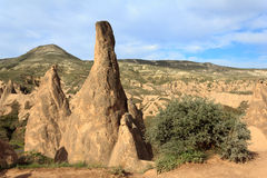 Eindeutige geologische Anordnungen, Cappadocia stockbilder
