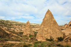 Eindeutige geologische Anordnungen, Cappadocia stockbild
