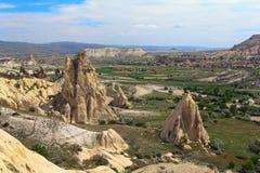 Eindeutige geologische Anordnungen, Cappadocia lizenzfreie stockfotografie