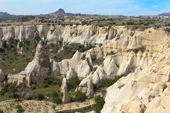 Eindeutige geologische Anordnungen, Cappadocia stockfotografie