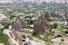 Eindeutige geologische Anordnungen, Cappadocia lizenzfreie stockfotos