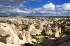 Eindeutige geologische Bildungen, Cappadocia lizenzfreie stockfotos