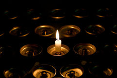 Eindeutige Kerze Lizenzfreies Stockfoto