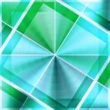 Eindeutige Muster grün-blau Stockfotografie