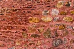 Eindeutige Steinwand des roten Forts Lizenzfreie Stockfotos