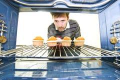 Eindeutige Veranschaulichung aus einem Ofen heraus lizenzfreie stockfotos