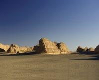 Eindeutige yadan Erdoberfläche in der Gobi-Wüste Lizenzfreie Stockfotografie