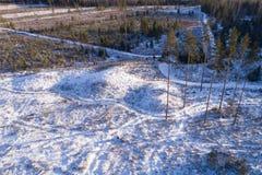 Eindeutiger Bereich in winterlichem Estland stockfotografie
