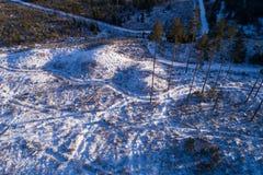 Eindeutiger Bereich in winterlichem Estland lizenzfreie stockfotografie