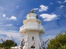 Eindeutiger hölzerner Leuchtturm Stockfotografie