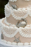 Eindeutiger Hochzeitskuchen Lizenzfreies Stockfoto