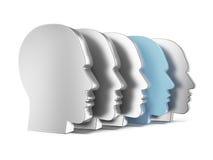 Eindeutiger menschlicher Kopf Stockfotos