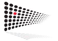 Eindeutiger roter Punkt stockbilder