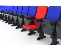 Eindeutiger roter Stuhl stock abbildung
